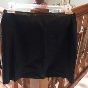 Black leather mini skirt only worn once